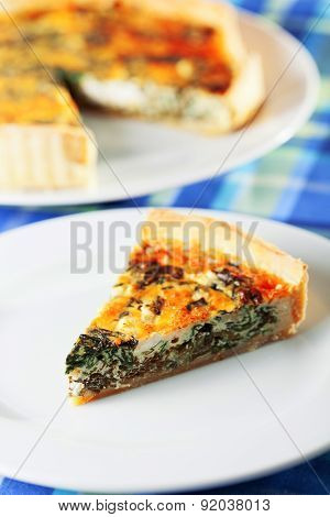 Quiche With Spinach And Rocotta Cheese
