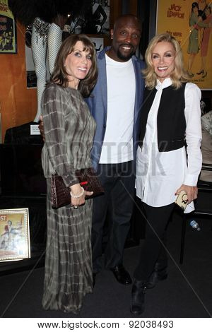 LOS ANGELES - MAY 27: Kate Linder, Jerome Ro Brooks, Donna Mills at the Marilyn Monroe Missing Moments preview at the Hollywood Museum on May 27, 2015 in Los Angeles, California