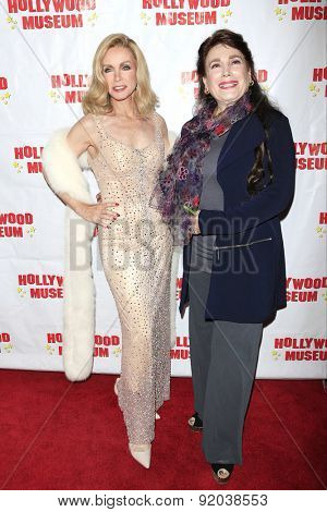 LOS ANGELES - MAY 27: Donna Mills, Donelle Dadigan at the Marilyn Monroe Missing Moments preview at the Hollywood Museum on May 27, 2015 in Los Angeles, California