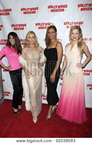 LOS ANGELES - MAY 27: Lindsay Hartley, Donna Mills, Chrystee Pharris, Crystal Hunt at the Marilyn Monroe Missing Moments preview at the Hollywood Museum on May 27, 2015 in Los Angeles, California
