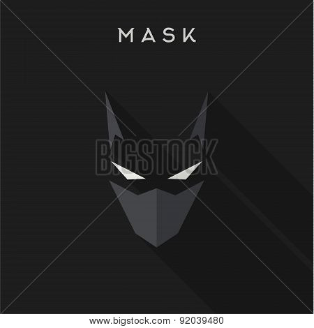 Hero, superhero Mask flat style, vector