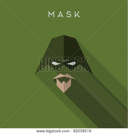 Hero, superhero Mask flat style, vector