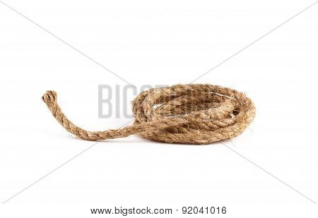 Rope Coil Isolated On White