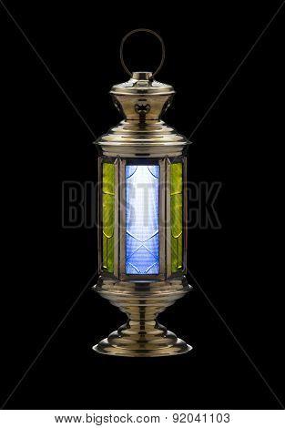 Festive Ramadan Lantern On Black
