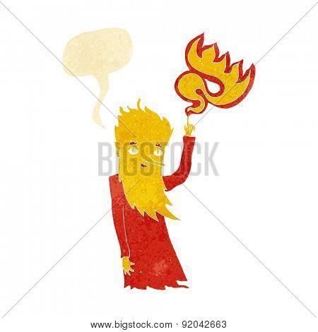 cartoon fire spirit