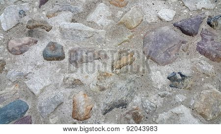 Road Surface Paved With Rough Stones