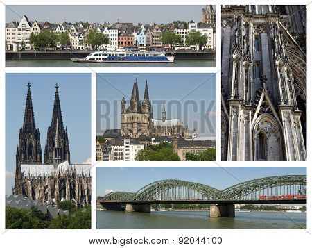 Cologne Landmarks Collage