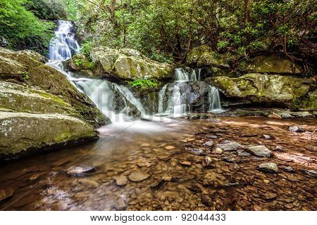 Great Smoky Mountains Waterfall - Spruce Flats Falls