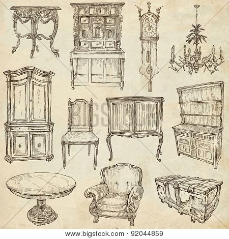 Furniture - Freehand Sketches On Paper