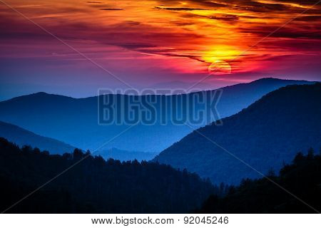 Great Smoky Mountains Sunset at Morton Overlook