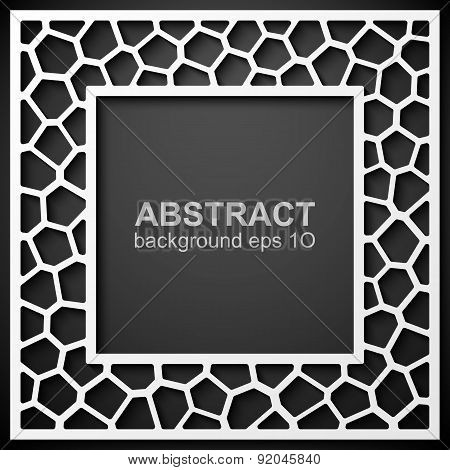 Abstract geometric frame background