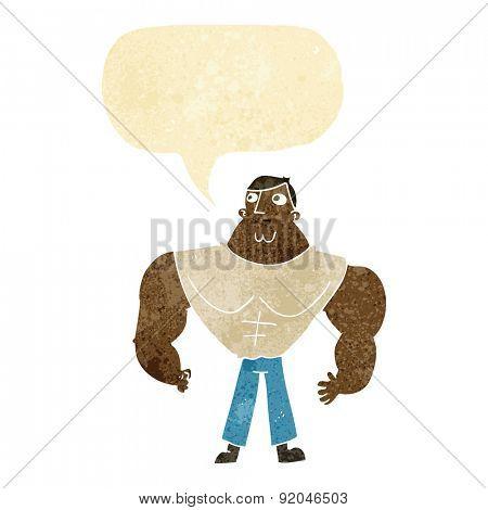 cartoon muscle gym guy