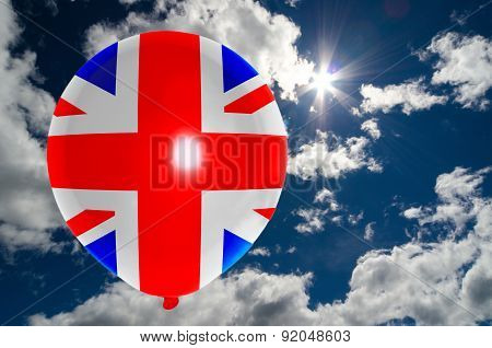 Balloon With Flag Of United Kingdom On Sky