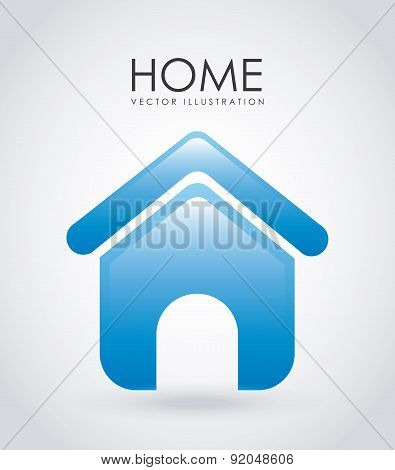 House design over gray background vector illustration