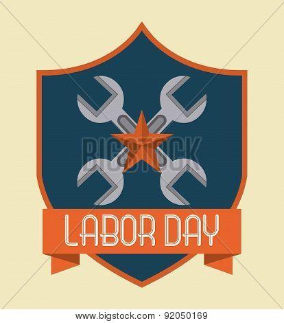 Labor day design over beige background vector illustration