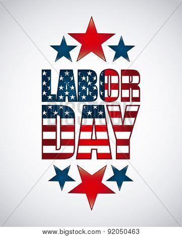 Labor day design over white background vector illustration