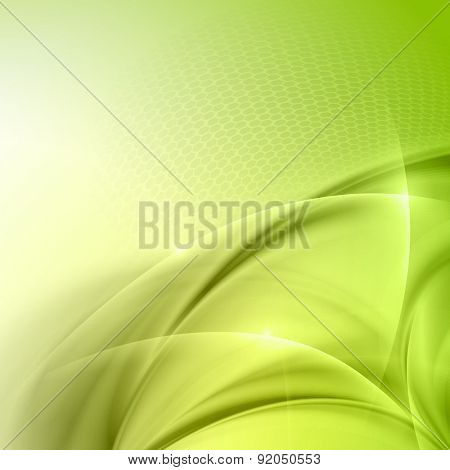 Abstract green wave vector background
