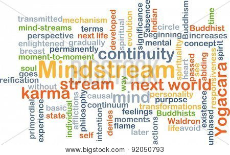 Background concept wordcloud illustration of mindstream