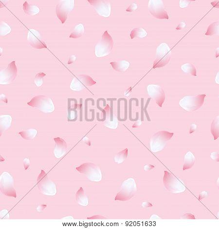 Light Seamless Pattern Pink With Flowers Sakura