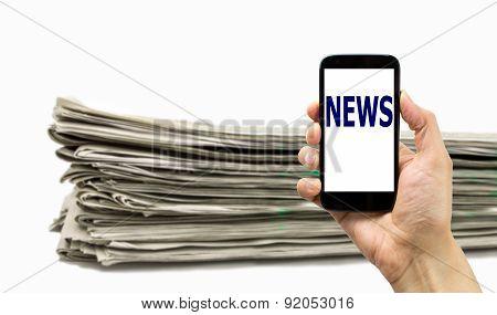 Smartphone Or Newspaper