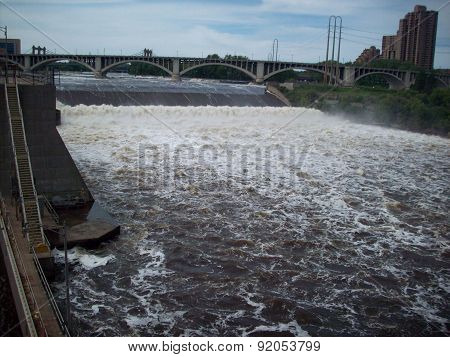 Lock And Dam In Minneapolis