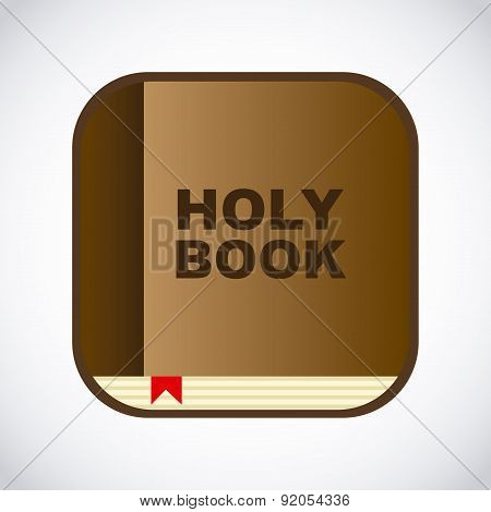 Bible design over gray background vector illustration