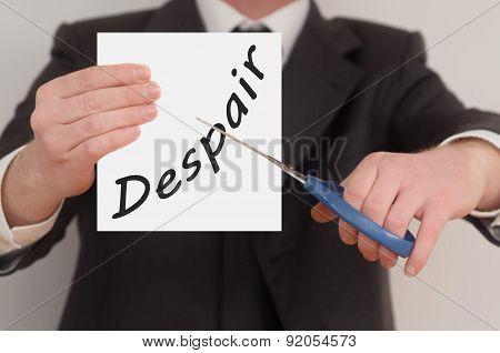 Despair, Determined Man Healing Bad Emotions