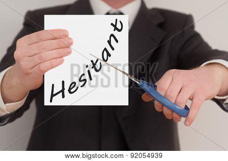Hesitant, Determined Man Healing Bad Emotions