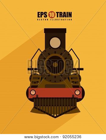 train design over yellow  background vector illustration
