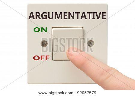 Anger Management, Switch Off Argumentative
