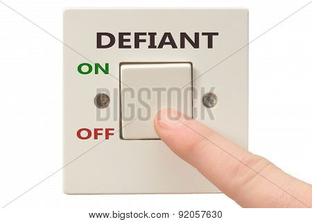 Anger Management, Switch Off Defiant