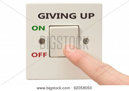 Dealing With Giving Up, Turn It Off