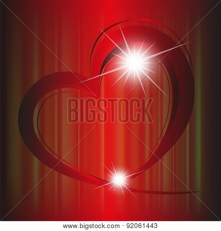 Red hearts background template