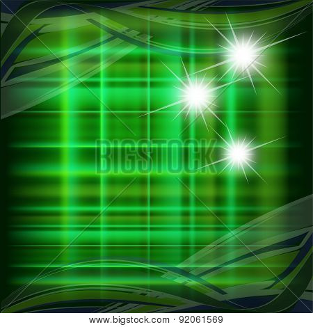 Green pattern with star dotted light  design