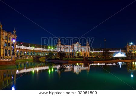 Palace at Spanish Square in Sevilla Spain - architecture background