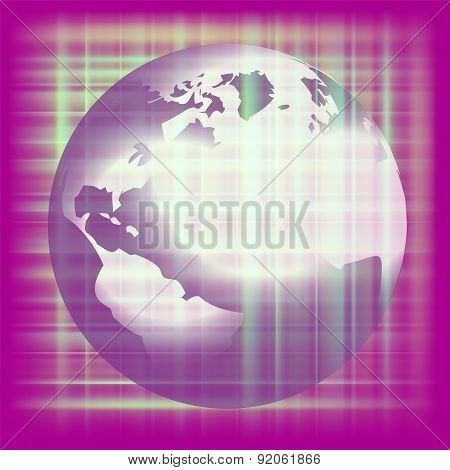 Earth space purple background
