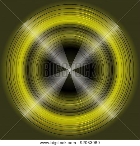 Abstract circular dark green Background Design