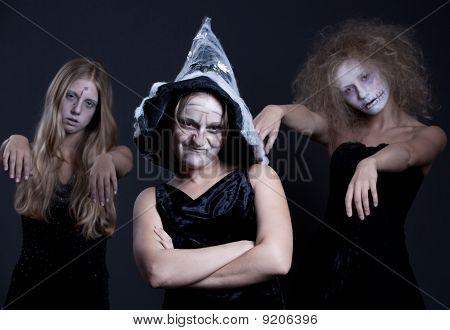 Three Halloween Personages