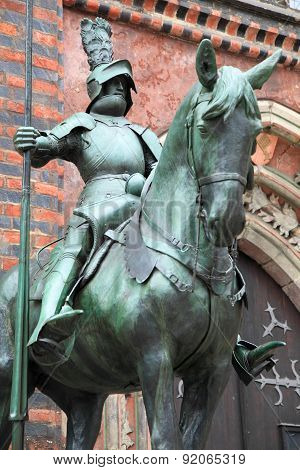 medieval guardian warrior of Bremen