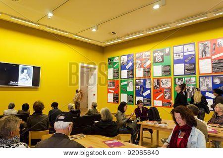 Amsterdam, Netherlands - May 6, 2015: Dutch People Visit Stedelijk Musem In Amsterdam