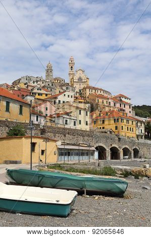 ancient town of Cervo and beach