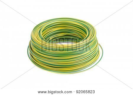 Roll of black electic wire