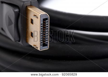 Display cable gold plated connector