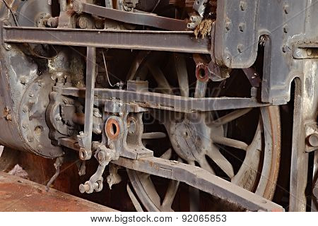 Steam locomotive rusting for ages