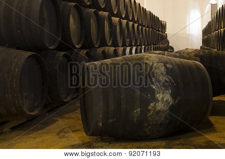 Whisky Or Wine Barrels