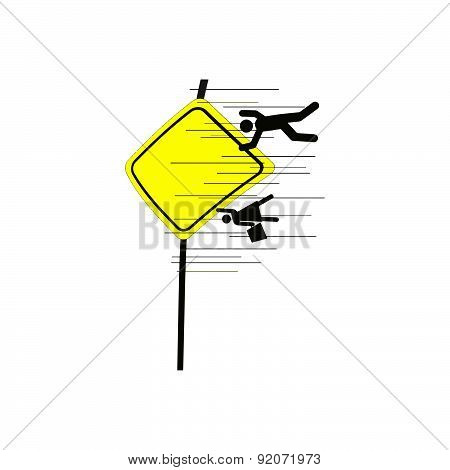 Illustration Vector Of School Area Sign With Speed Lines