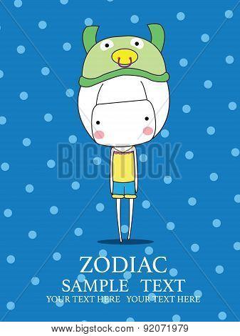 Cute Baby Girl Set zodiac - symbols of chinese horoscope