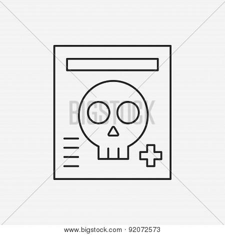 X-rays Line Icon