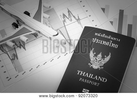 Toy Airplane And Passport