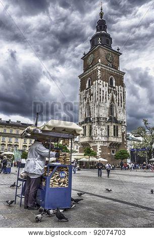 Main Square At Krakow, Poland